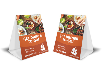 Dinner To-Go Table Tent Template preview