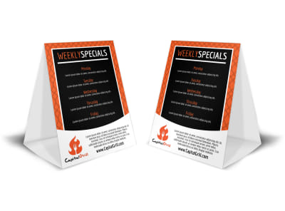 Restaurant Specials Table Tent Template preview
