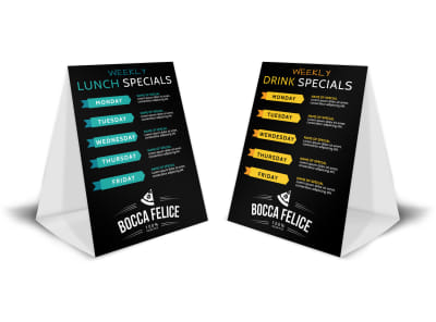 Weekly Lunch Specials Table Tent Template preview