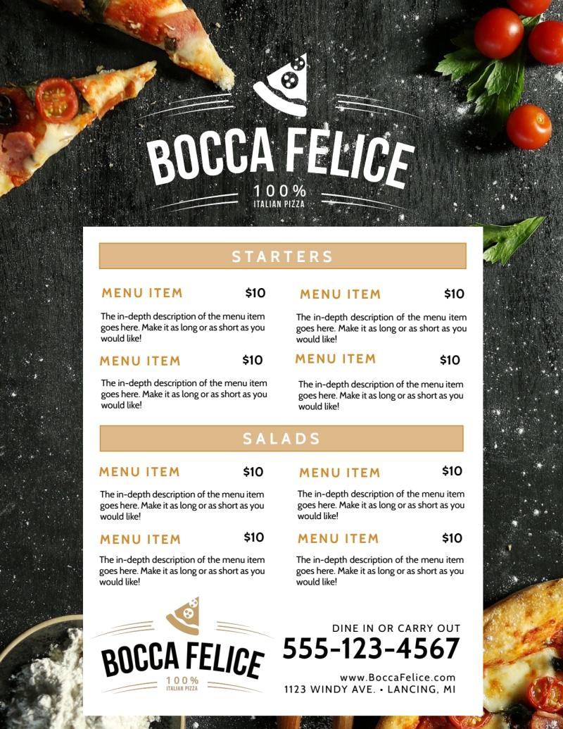 Restaurant Italian Menu Template Preview 2