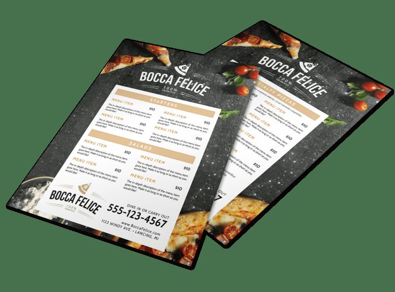 Restaurant Italian Menu Template Preview 1