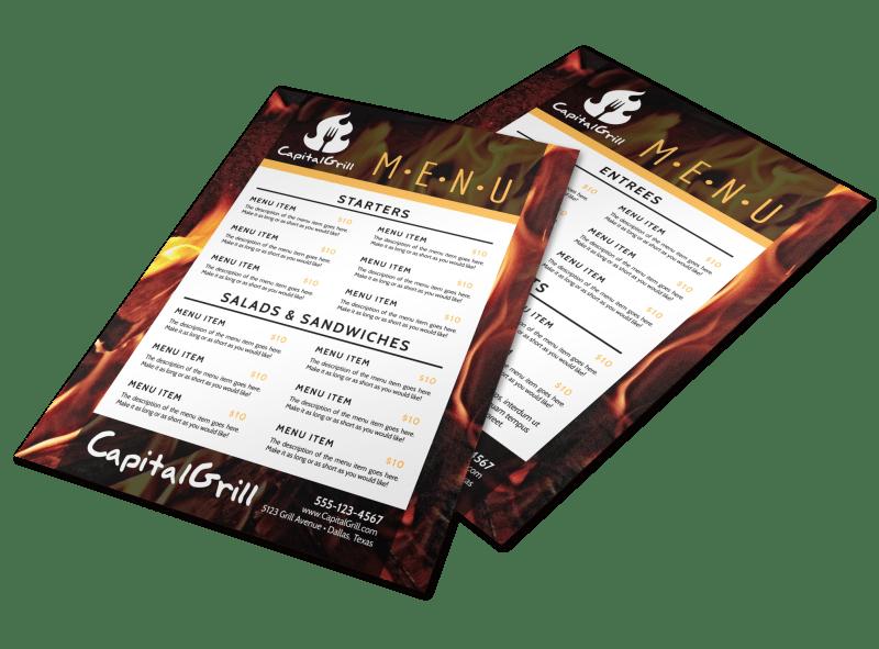 Fire Restaurant Menu Template Preview 1