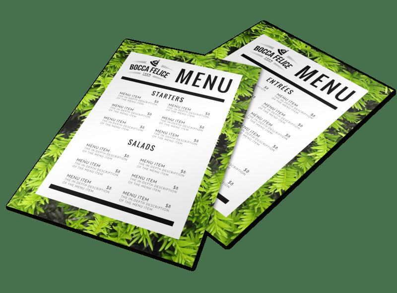 Leaf Restaurant Menu Template Preview 1