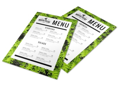 Leaf Restaurant Menu Template preview