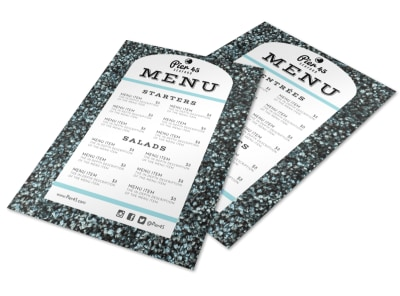 Restaurant Style Menu Template preview