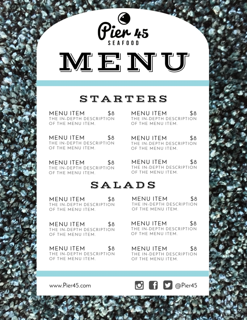 Restaurant Style Menu Template Preview 2