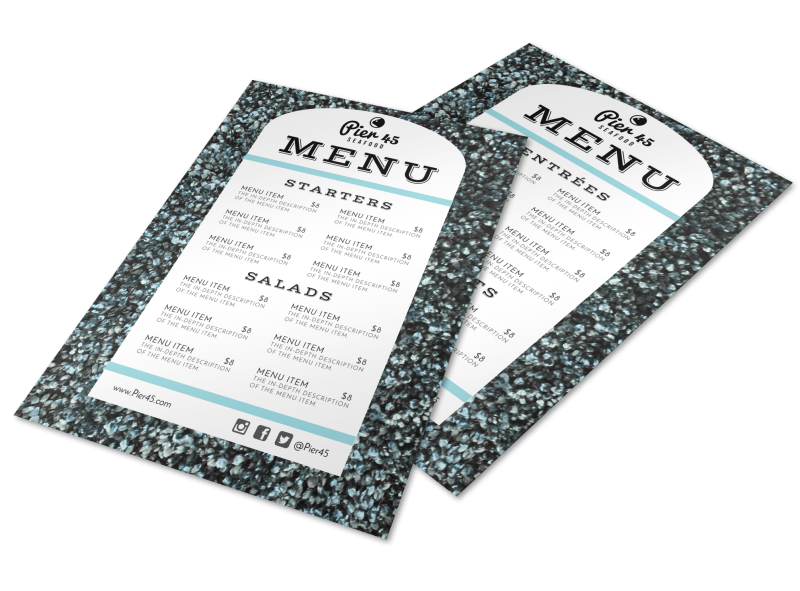 Restaurant Style Menu Template Preview 1