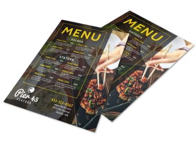 Stylish Restaurant Menu Template preview
