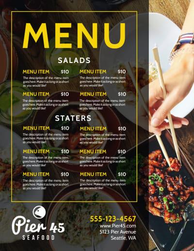 Stylish Restaurant Menu Template Preview 1