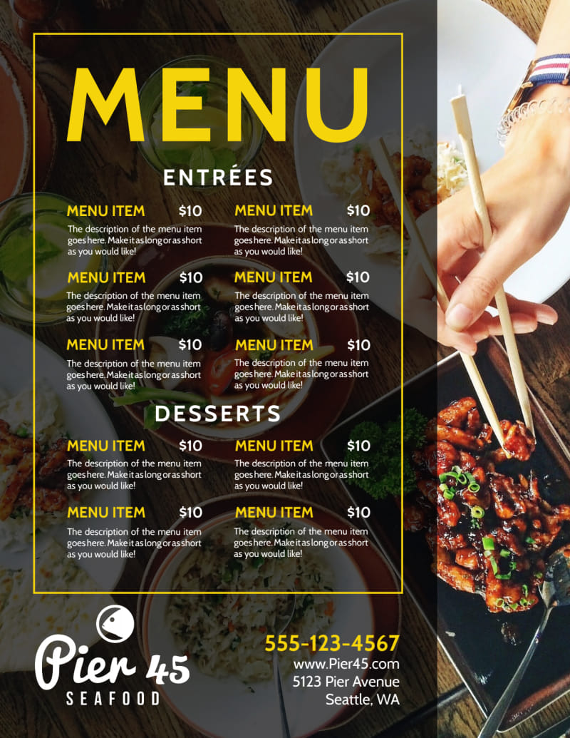 Stylish Restaurant Menu Template Preview 3
