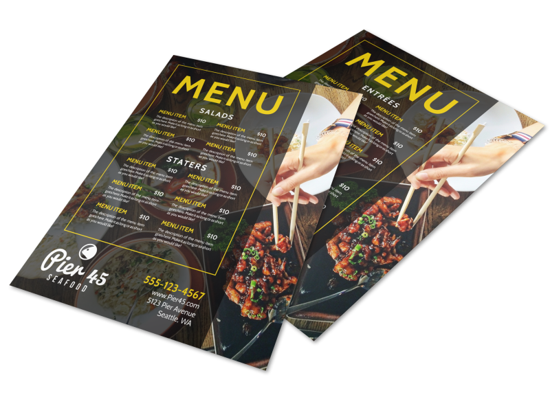 Stylish Restaurant Menu Template Preview 1