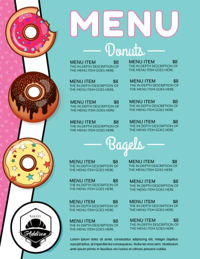 Doughnut Menu Template Preview 1