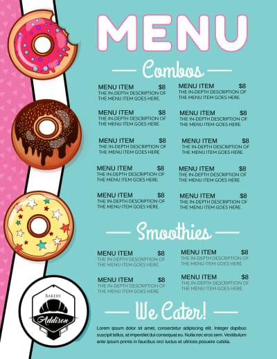 Doughnut Menu Template Preview 2
