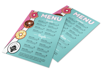 Doughnut Menu Template preview
