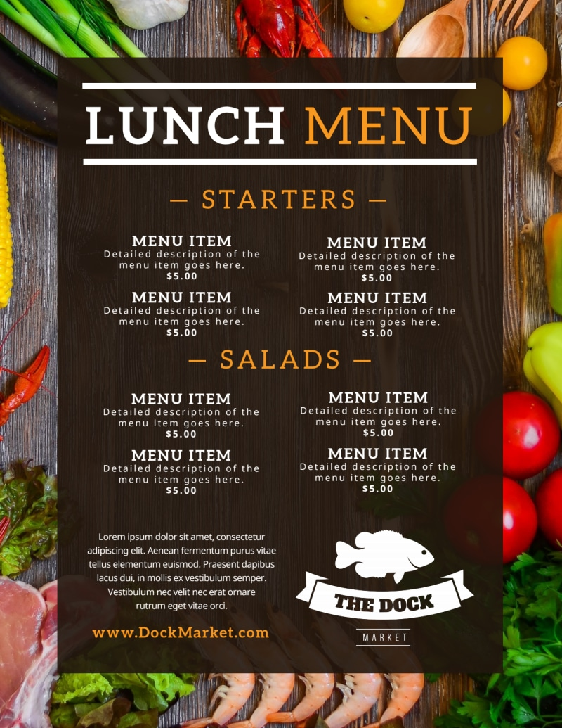 Fresh Restaurant Menu Template Preview 2