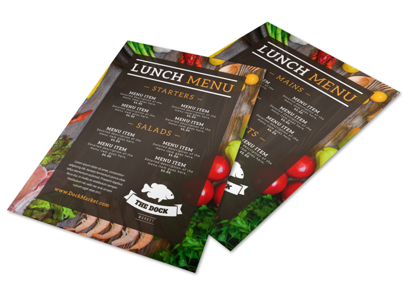 Fresh Restaurant Menu Template Preview 1