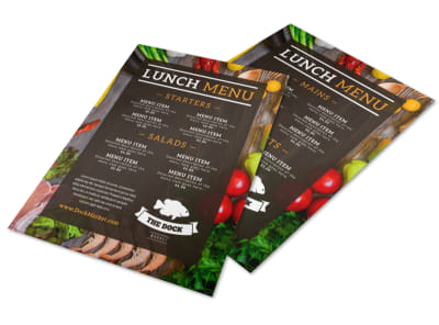Fresh Restaurant Menu Template preview