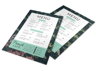 French Restaurant Menu Template preview