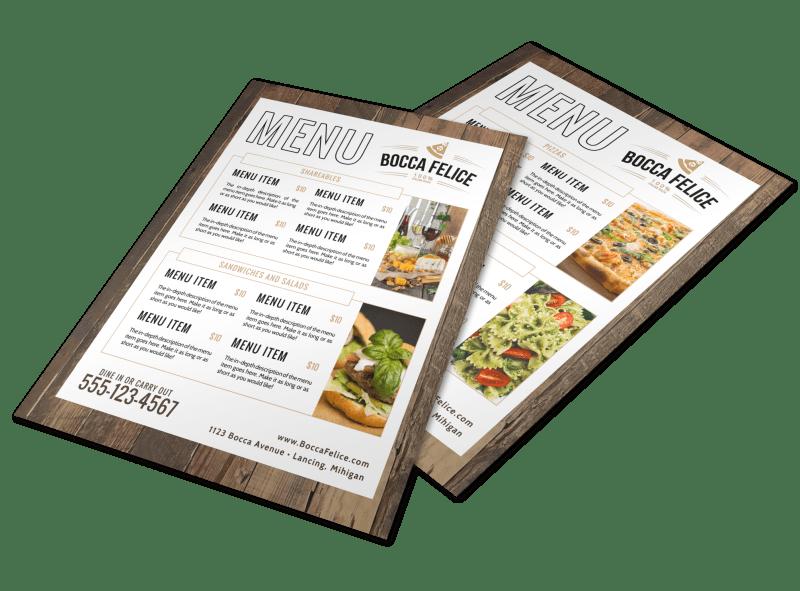 Italian Dinner Menu Template Preview 1