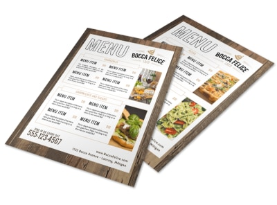 Italian Dinner Menu Template preview