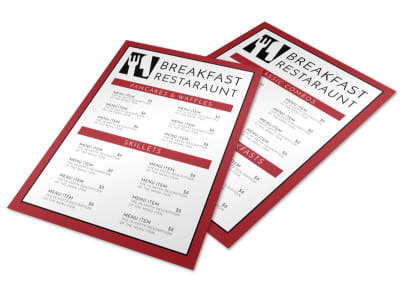 Restaurant Breakfast Menu Template preview