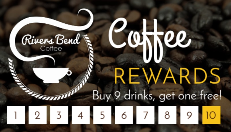 Coffee Rewards Punch Card Template Preview 2