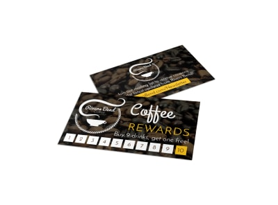Coffee Rewards Punch Card Template preview