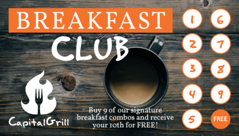 Breakfast Club Punch Card Template Preview 2
