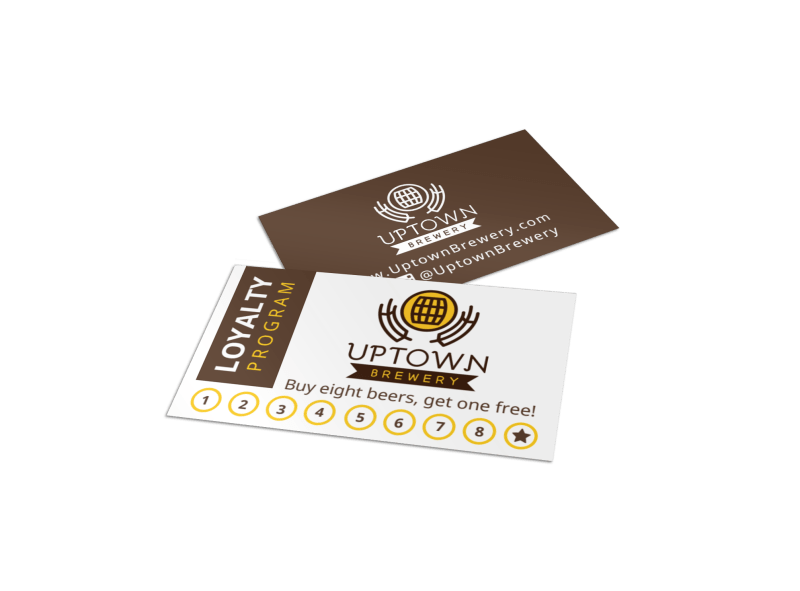 Brewery Loyalty Punch Card Template Preview 1