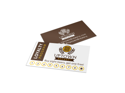 Brewery Loyalty Punch Card Template preview