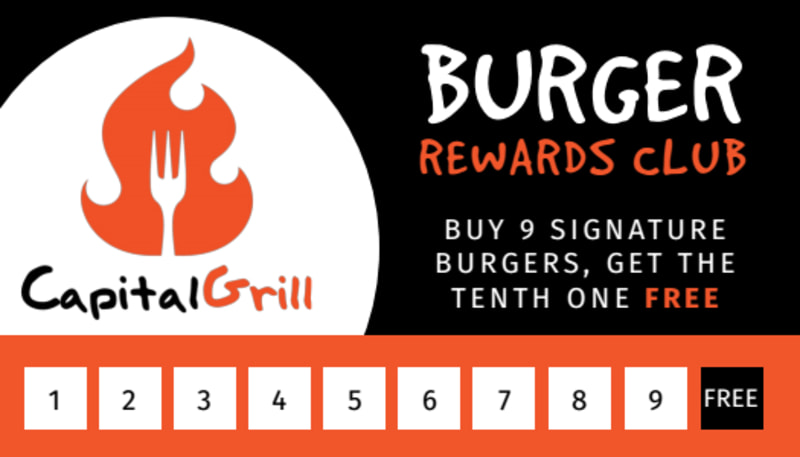 Burger Restaurant Loyalty Punch Card Template Preview 2