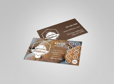 Bakery Loyalty Punch Card Template preview