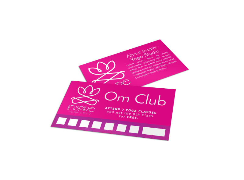 Yoga Class Punch Card Template Preview 4