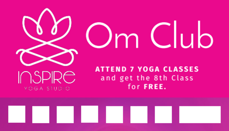 Yoga Class Punch Card Template Preview 2