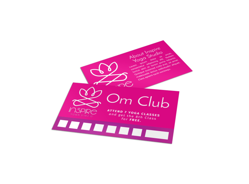 Yoga Class Punch Card Template Preview 1