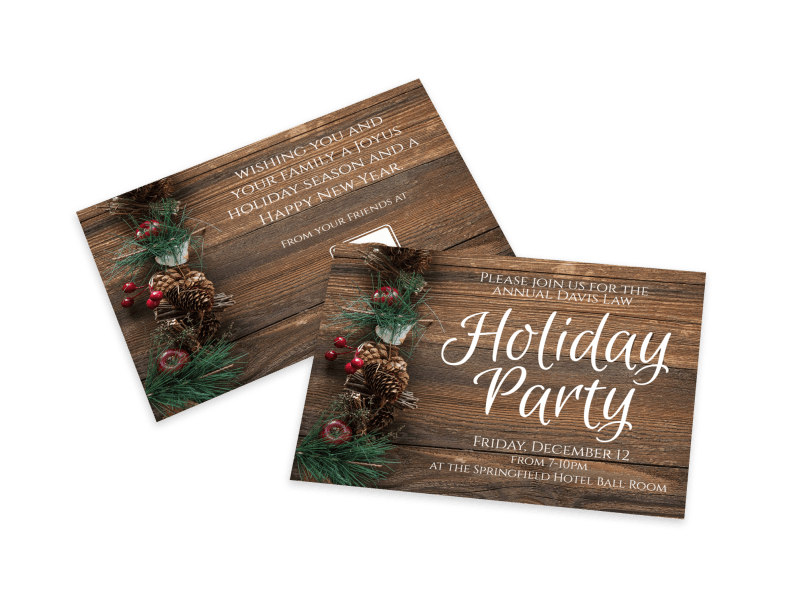 Holiday Party Invitation Card Template