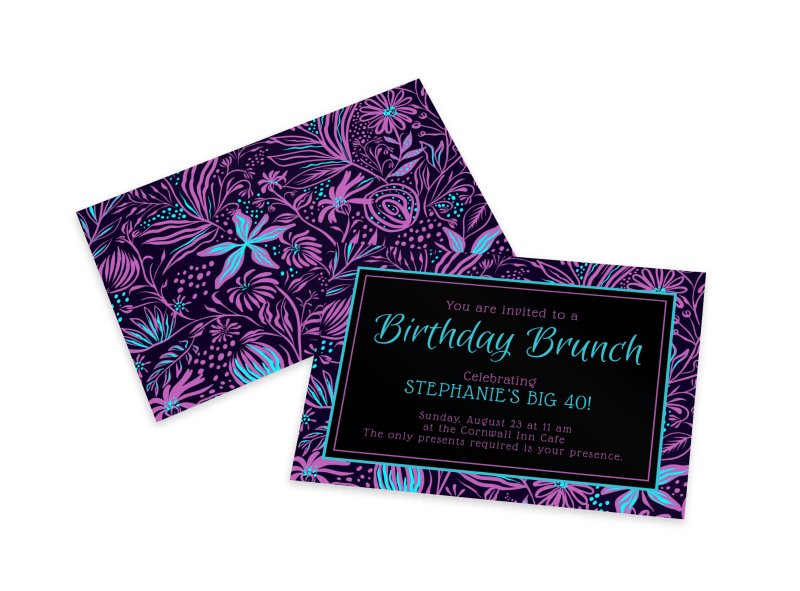 Birthday Brunch Invitation Card Template Preview 1