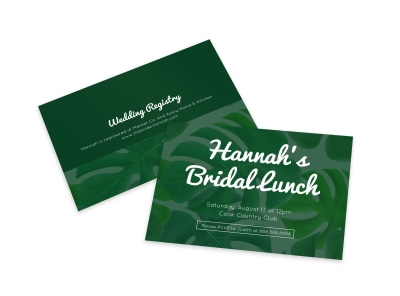 Bridal Lunch Invite Card Template preview