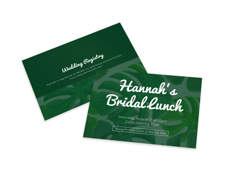 Bridal Lunch Invite Card Template Preview 1