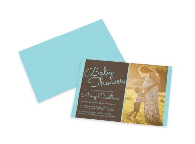 Baby Shower Invitation Card Template preview