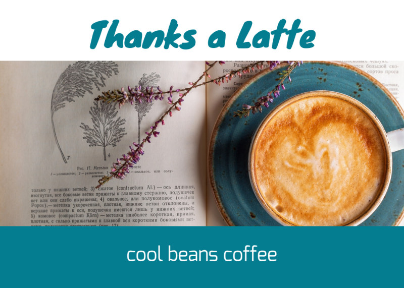 Thanks A Latte Card Template Preview 2