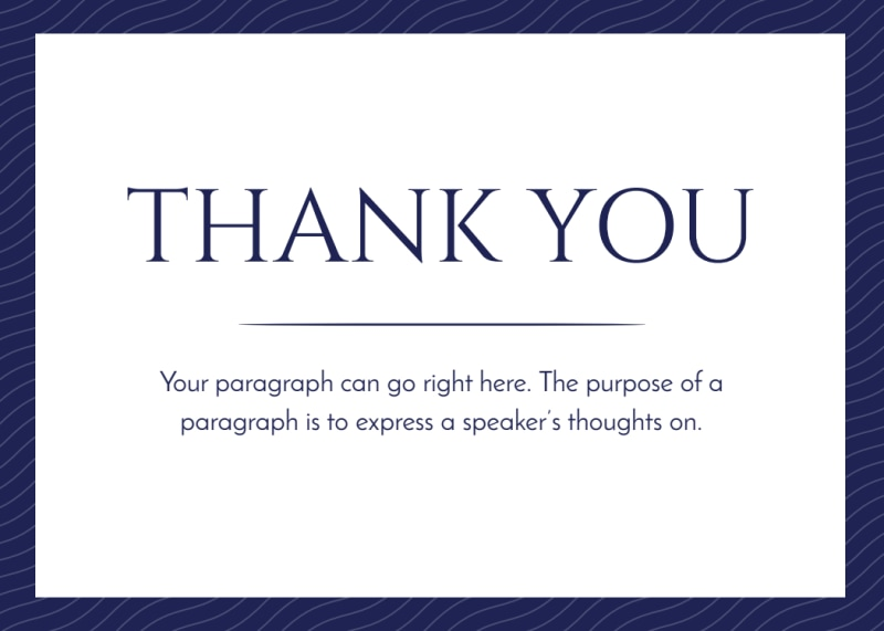 Simple Thank You Card Template Preview 2