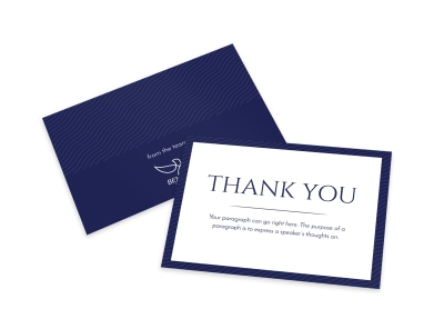 Simple Thank You Card Template preview