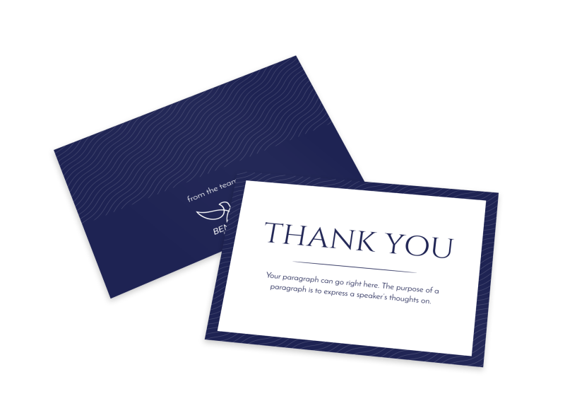 Simple Thank You Card Template Preview 1