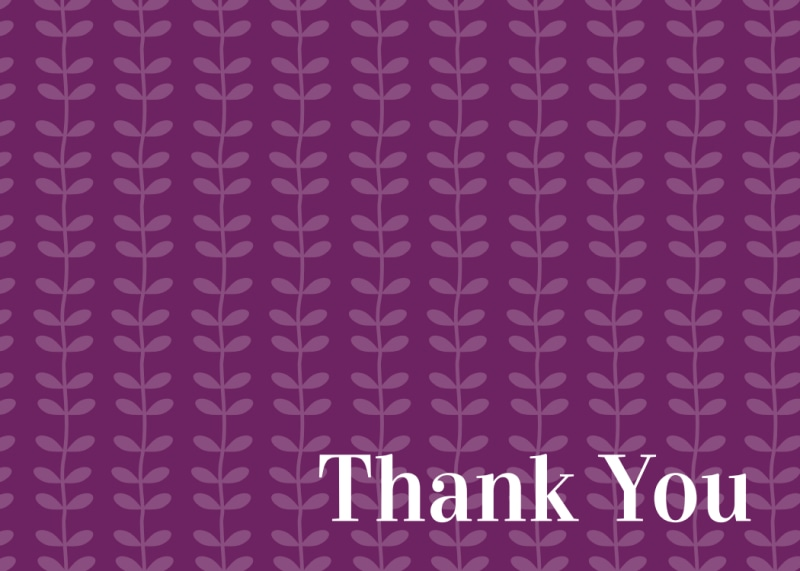Purple Thank You Card Template Preview 2