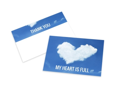 Full Heart Thank You Card Template preview