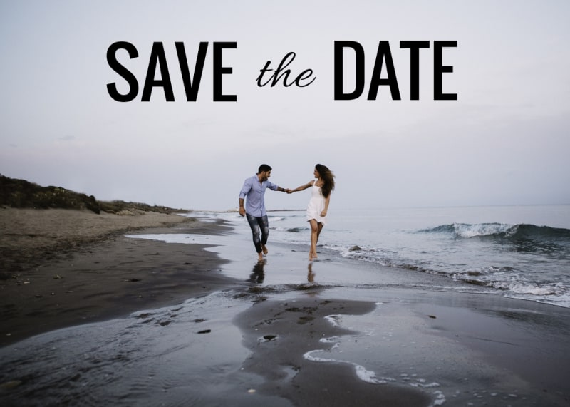 Picture Save The Date Card Template Preview 2