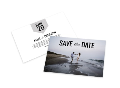 Picture Save The Date Card Template preview