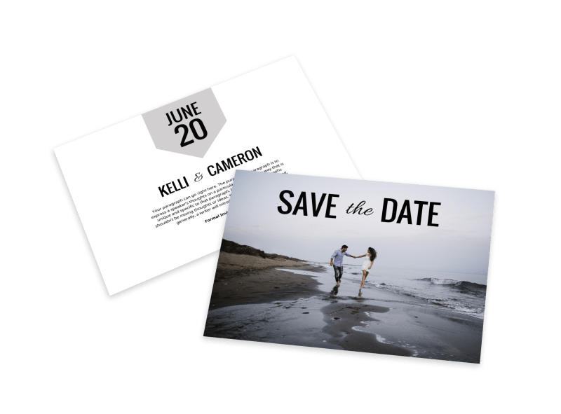 Picture Save The Date Card Template Preview 1