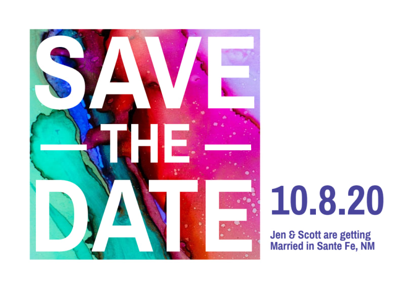 Colorful Save The Date Card Template Preview 2